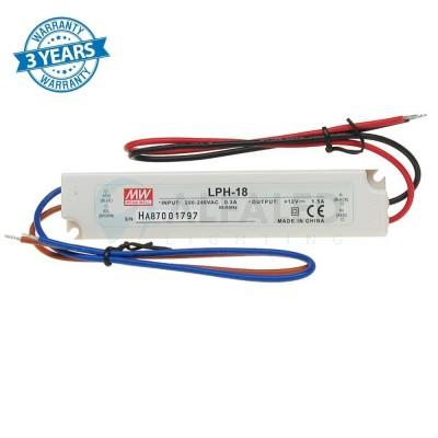 Napájací zdroj pre LED 18W/12V - vode odolný séria LPH