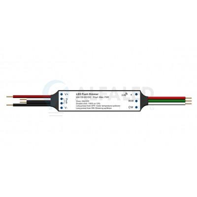 Mini RF prijímač  ATTRACTIVE pre Dual White osvetlenie + PUSH