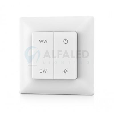 Bezdrôtový nástenný tlačidlový Dual White ovládač ATTRACTIVE