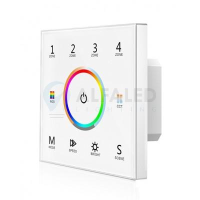 Bezdrôtový vstavaný 4 zónový RGB+Dual White ovládač ATTRACTIVE - White