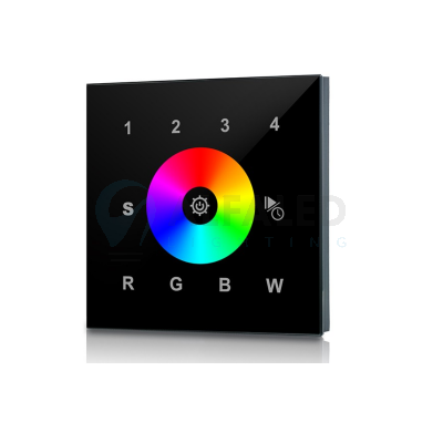 Bezdrôtový vstavaný 4 zónový RGBW ovládač PERFECT AF-2820AC čierny