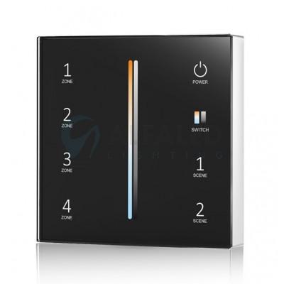 Bezdrôtový nástenný 4 zónový Dual White ovládač ATTRACTIVE - Black
