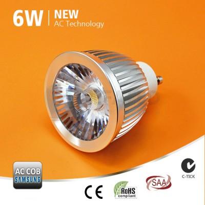 LED žiarovka GU10 6W AC/COB SAMSUNG LED - Premium series