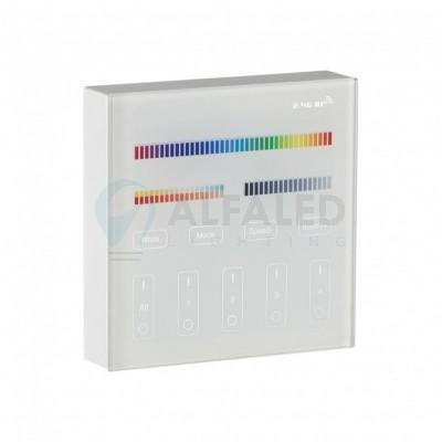 Bezdrôtový nástenný 4 zónový RGB+CCT ovládač CLEVER