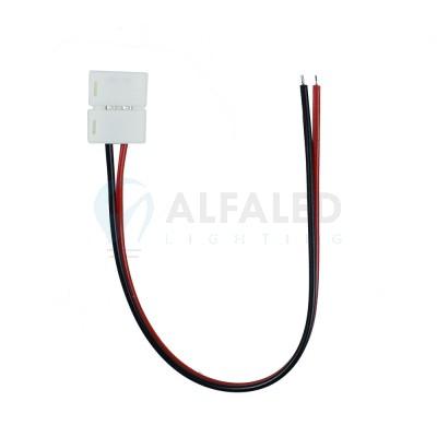 Napájací konektor zaklapávací pre 10mm LED pásy - 20cm