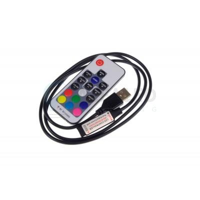 Riadiaci systém RF USB 5V 17tl ECONOMY RGB