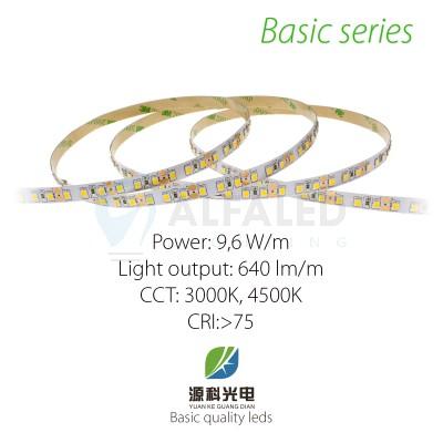 LED pás BASIC series 9,6W/12V, 120 LED/m 2835