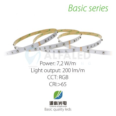 LED pás BASIC series 7,2W/12V RGB 30 LED/m