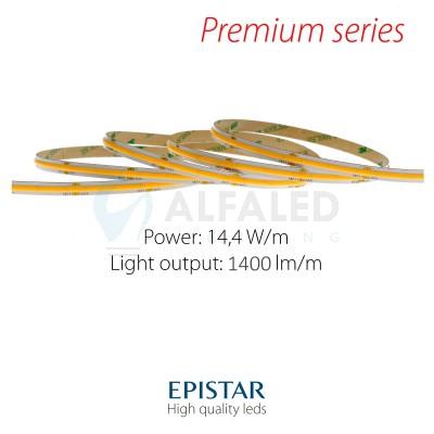 LED pás PREMIUM QUALITY 14W/24V - COB 528LED/m CRI>90