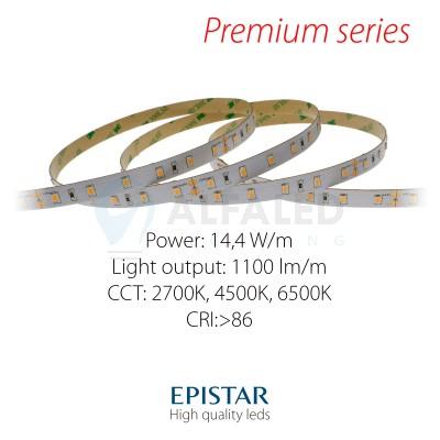 LED pás PREMIUM QUALITY 14,4W/24V High CRI, 60 LED/m