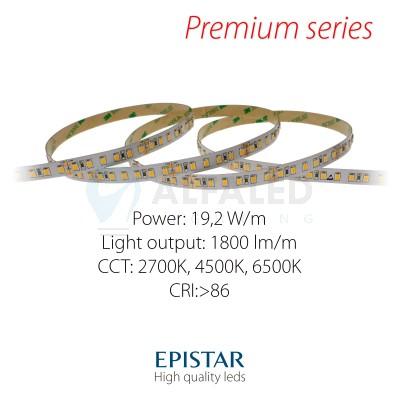 LED pás PREMIUM QUALITY 19,2W/24V High CRI, 120 LED/m