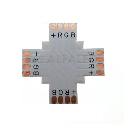 X konektor spájkovací pre RGB LED pásy