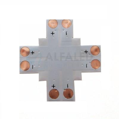 X konektor spájkovací pre 8mm LED pásy