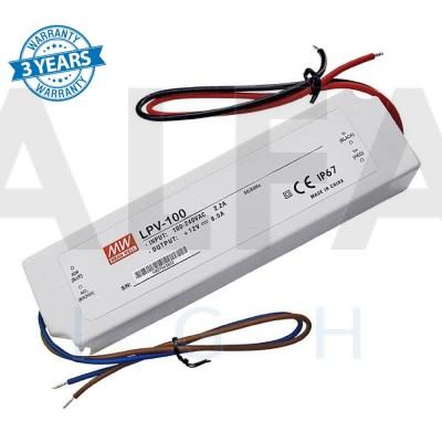 Napájací zdroj pre LED 100W/12V - vode odolný séria LPV