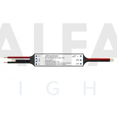 Mini RF prijímač  ATTRACTIVE pre Jednofarebné osvetlenie + PUSH