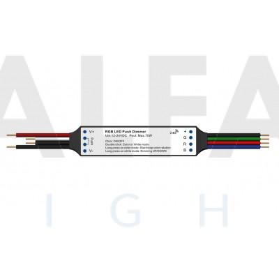 Mini RF prijímač  ATTRACTIVE pre RGB osvetlenie + PUSH