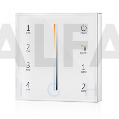 Bezdrôtový nástenný 4 zónový Dual White ovládač ATTRACTIVE - White