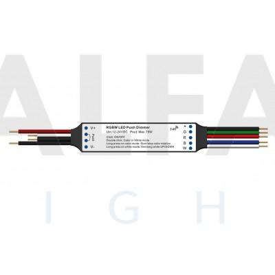 Mini RF prijímač  ATTRACTIVE pre RGBW osvetlenie + PUSH