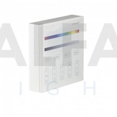 Bezdrôtový nástenný 4 zónový RGBW ovládač CLEVER