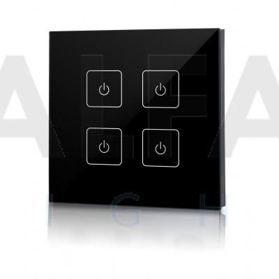 Bezdrôtový nástenný 4 zónový stmievač EASY AF-2805T2 Black