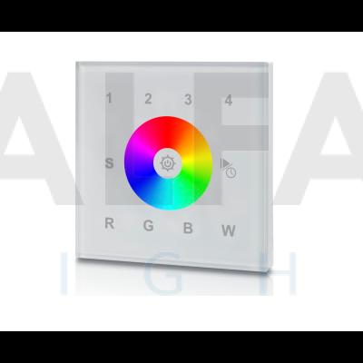 Bezdrôtový vstavaný 4 zónový RGBW ovládač PERFECT AF-2820AC biely