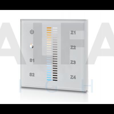 Bezdrôtový vstavaný 4 zónový Dual White ovládač PERFECT AF-2830AC CCT biely