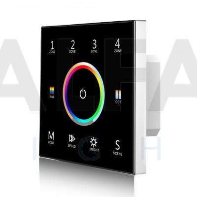 Bezdrôtový vstavaný 4 zónový RGB+Dual White ovládač ATTRACTIVE - Black