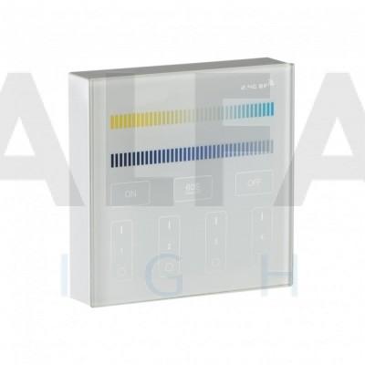Bezdrôtový nástenný 4 zónový Dual White ovládač CLEVER