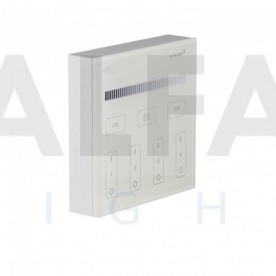 Bezdrôtový nástenný 4 zónový stmievač CLEVER