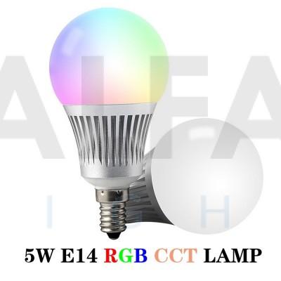 LED žiarovka CLEVER RGB+Dual White 5,5W E14