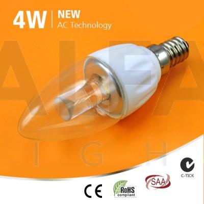 LED žiarovka E14 4W AC/COB SAMSUNG LED - Premium series