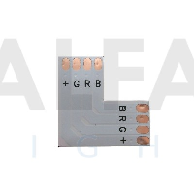 L konektor spájkovací pre RGB LED pásy