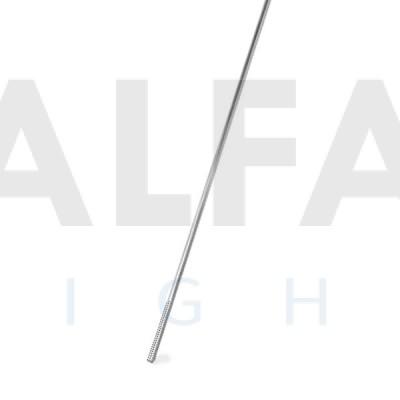 Mosadzná tyč s Ø 3mm pochrómovaná 1m (závit na konci)