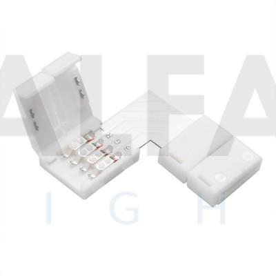 L konektor zaklapávací pre 10mm RGB LED pásy