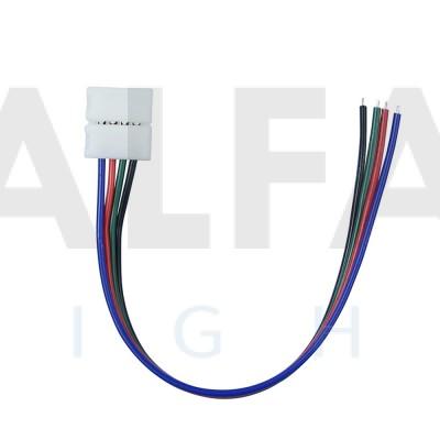Napájací konektor zaklapávací pre 10mm RGB LED pásy - 20cm