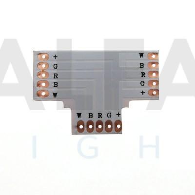 T konektor spájkovací pre RGBW LED pásy