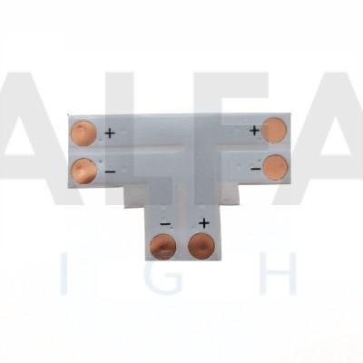 T konektor spájkovací pre 8mm LED pásy