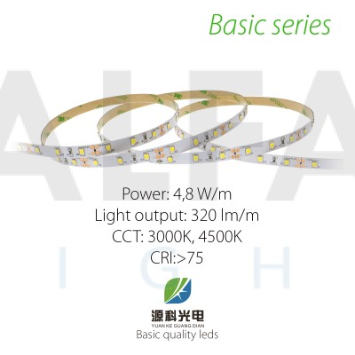 LED pás BASIC series 4,8W/12V, 60 LED/m 2835