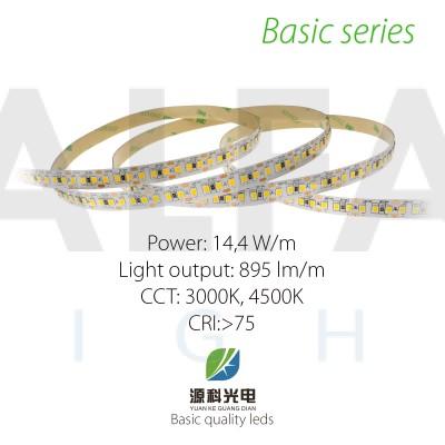 LED pás BASIC series 14,4W/12V, 168 LED/m 2835