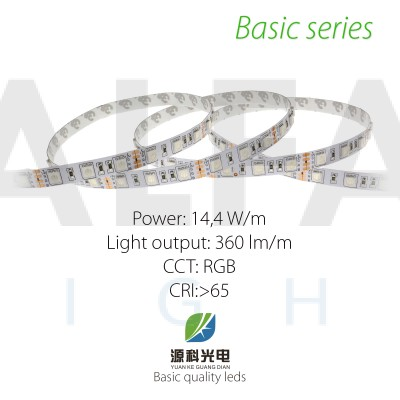 LED pás BASIC series 14,4W/12V RGB 60 LED/m