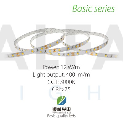 LED pás BASIC series 12W/12V, 60 LED/m 2835