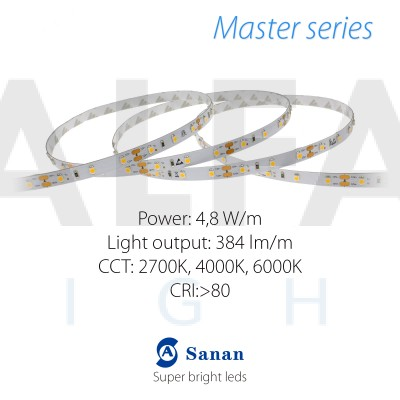 LED pás MASTER series 4,8W/12V, 60 LED/m 3528