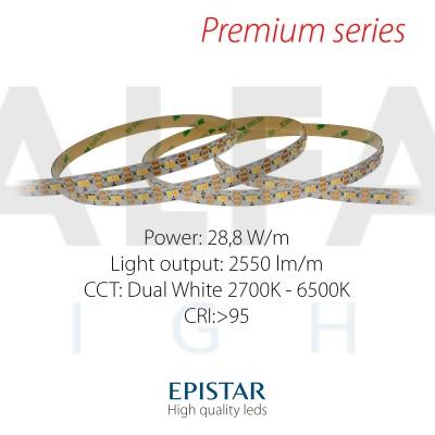 LED pás PREMIUM QUALITY 28,8W/24V 120 LED/m - Dual White