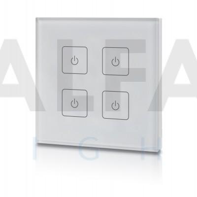 Bezdrôtový nástenný 4 zónový stmievač EASY AF-2805T2 White