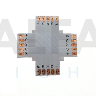X konektor spájkovací pre RGBW LED pásy